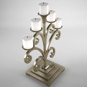 antique-candle-holder-metal-3d-model-4