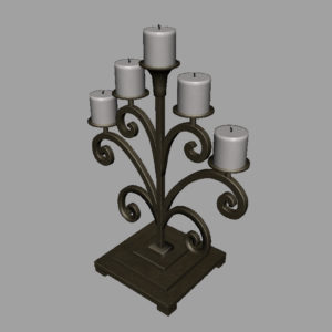 antique-candle-holder-metal-3d-model-8