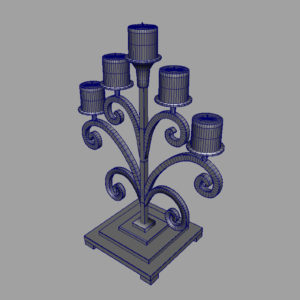 antique-candle-holder-metal-3d-model-9