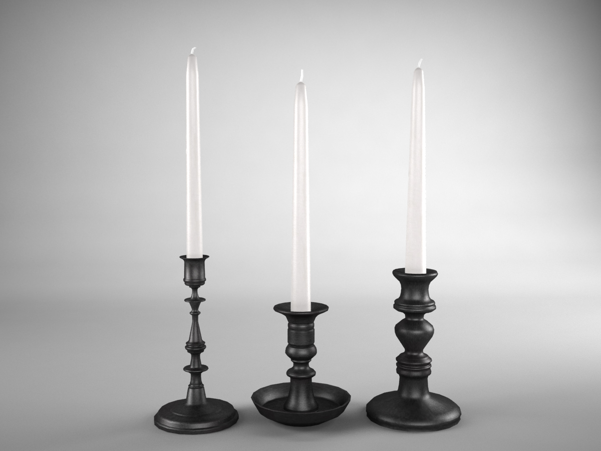 candle-sticks-antique-black-3d-model-1