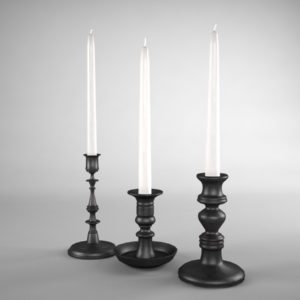 candle-sticks-antique-black-3d-model-2