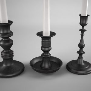 candle-sticks-antique-black-3d-model-4