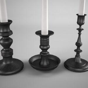 candle-sticks-antique-black-3d-model-4