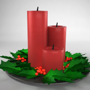 christmas-candle-holly-leaves-3d-model-1