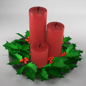 christmas-candle-holly-leaves-3d-model-3