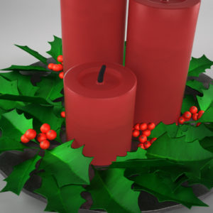 christmas-candle-holly-leaves-3d-model-4