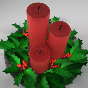 christmas-candle-holly-leaves-3d-model-5