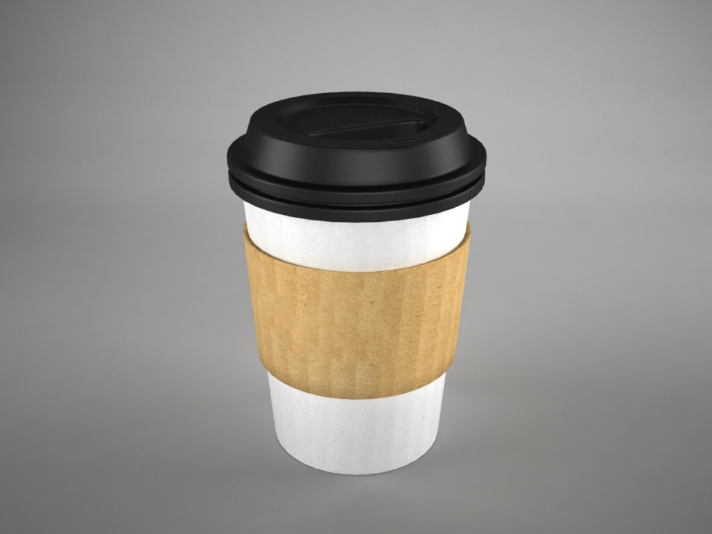 coffee cup to go 3d model recycled 3d models world. Black Bedroom Furniture Sets. Home Design Ideas