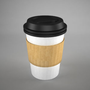 Coffee Cup To Go 3D Model Recycled