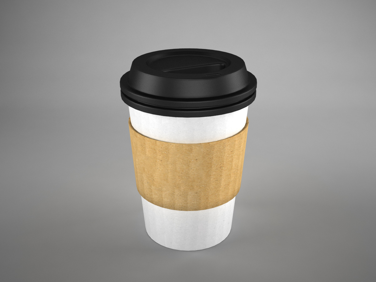 Coffee cup to go 3d model recycled 3d models world for Coffee to go