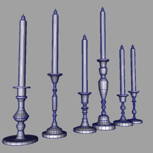 colorful-candlestick-candle-holder-3d-model-collection-13