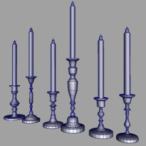 colorful-candlestick-candle-holder-3d-model-collection-15