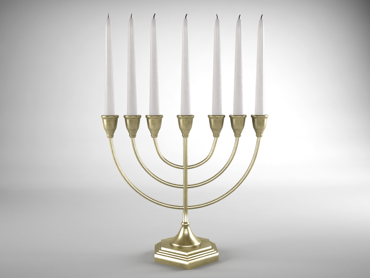 jewish-candle-holder-candlesticks-3d-model-1