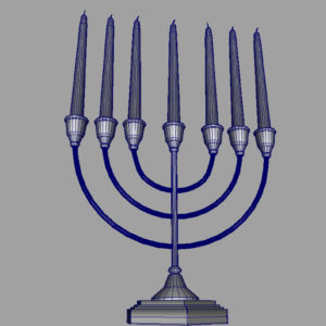 jewish-candle-holder-candlesticks-3d-model-11