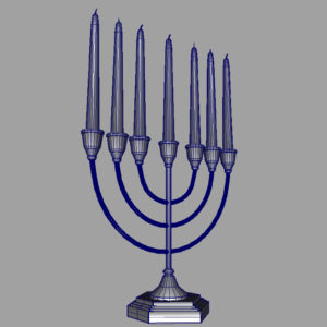 jewish-candle-holder-candlesticks-3d-model-13