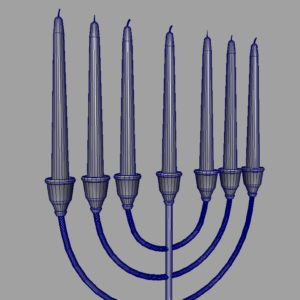 jewish-candle-holder-candlesticks-3d-model-15