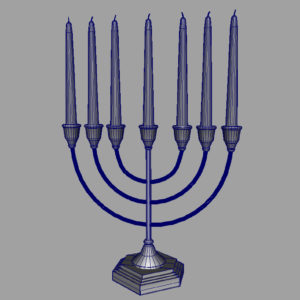 jewish-candle-holder-candlesticks-3d-model-7
