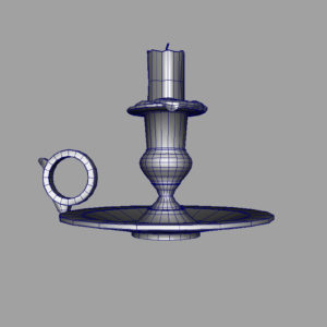 old-brass-candlestick-3d-model-8