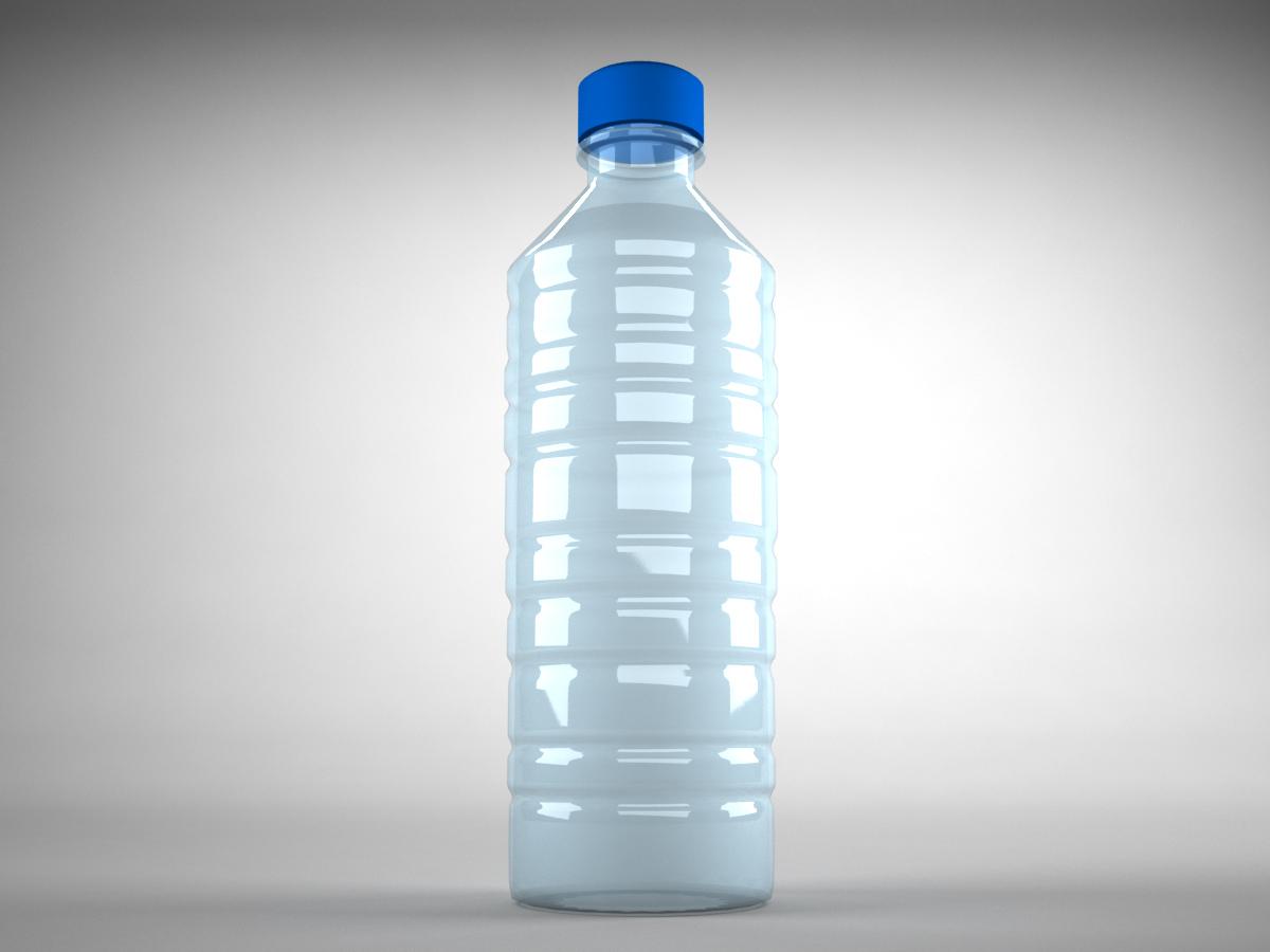 Plastic Water Bottle 3D Model - 3D Models World