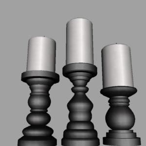 short-candlesticks-black-3d-model-10