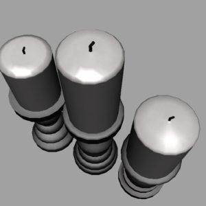 short-candlesticks-black-3d-model-14