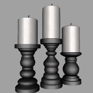 short-candlesticks-black-3d-model-16