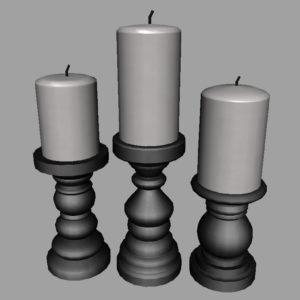 short-candlesticks-black-3d-model-6