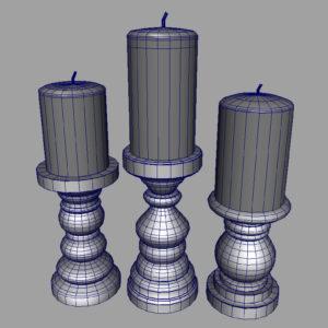 short-candlesticks-black-3d-model-7