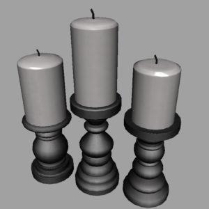 short-candlesticks-black-3d-model-8