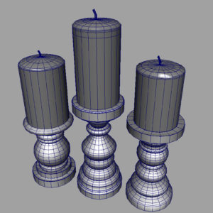 short-candlesticks-black-3d-model-9