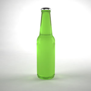 Glass Bottle Green 3D Model
