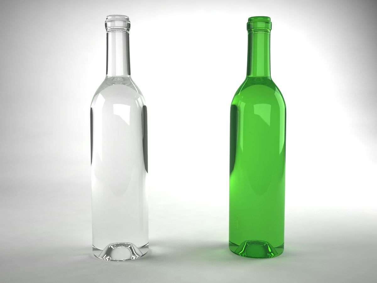 Wine bottle green 3d model 3d models world for Green wine bottles
