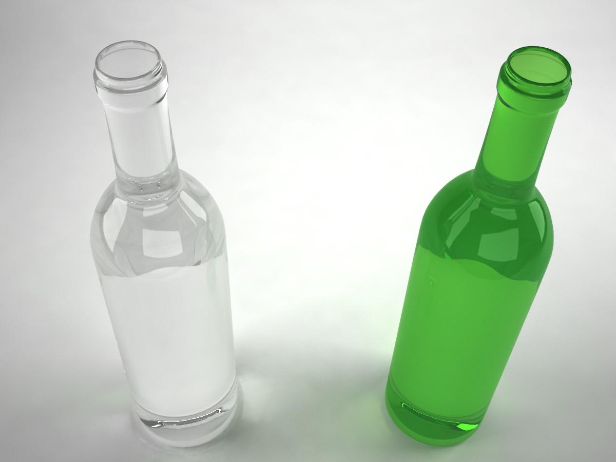 Wine Bottle Green 3D Model - 3D Models World