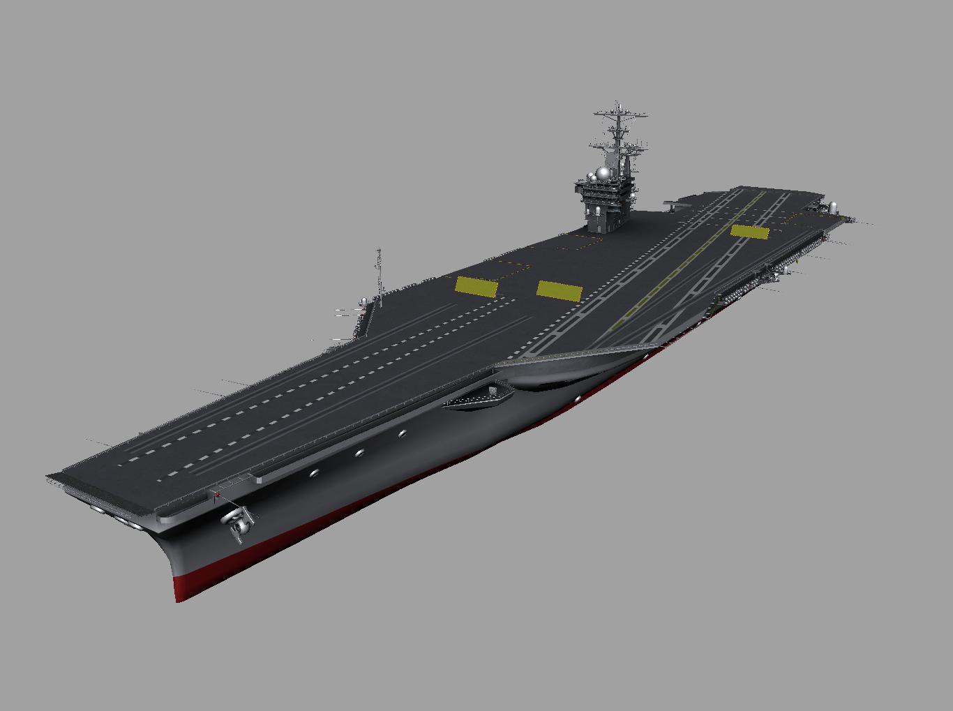 CVN 77 Aircraft Carrier USS George H W Bush 3D Model - 3D Models World