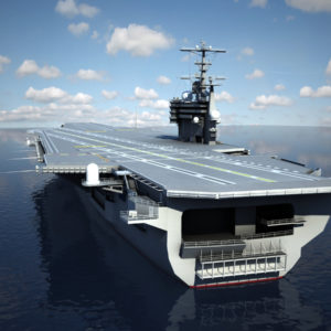 CVN 77 Aircraft Carrier USS George H.W Bush 3D Model
