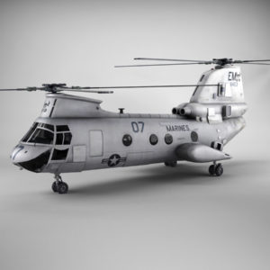 Boeing Vertol CH 46 Sea Knight 3D Model