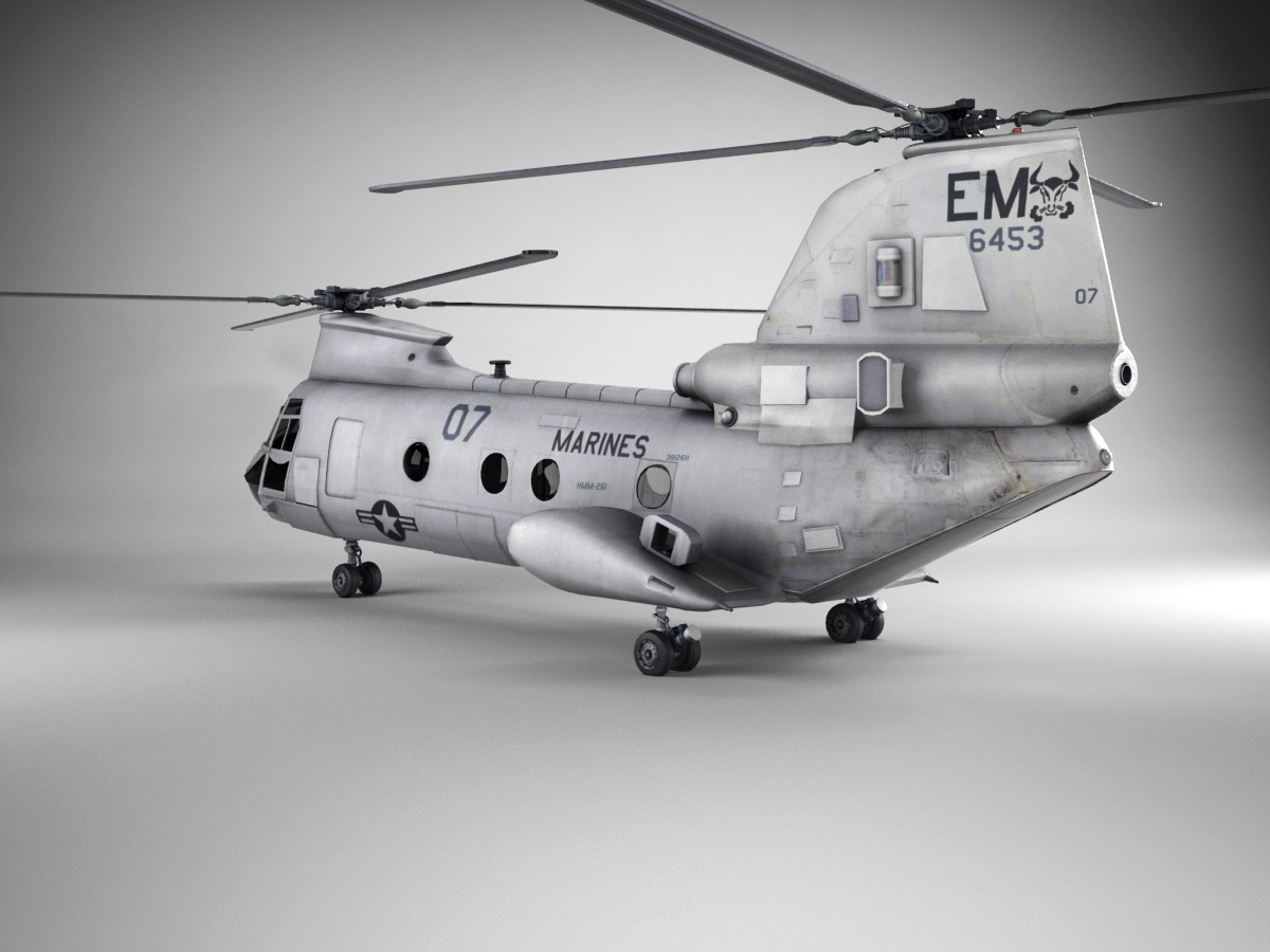 Boeing Vertol CH 46 Sea Knight 3D Model
