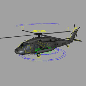 Sikorsky UH-60M Black Hawk Rig 3D