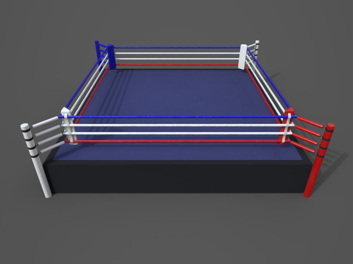 boxing-ring-PBR-3d-model-physically-based rendering-1
