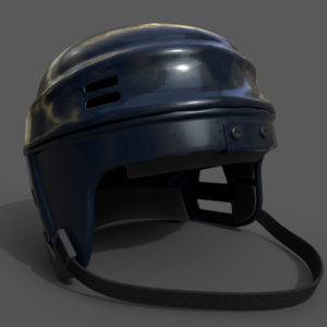 Hockey Helmet PBR 3D Model
