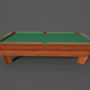 Pool Table PBR 3D Model