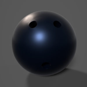 Bowling Ball PBR 3D Model