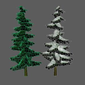 confir-trees-spring-tree-snow-tree-3d-models-3