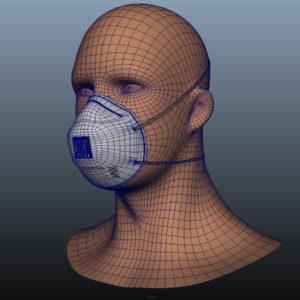 n95-respirator-face-mask-pbr-3d model-11