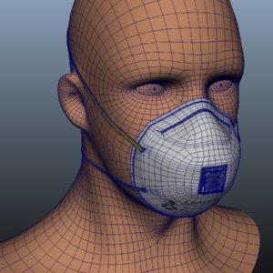 n95-respirator-face-mask-pbr-3d model-14