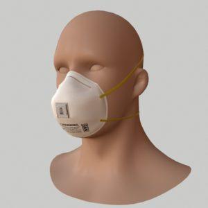 N95 Respirator Face Mask PBR 3D Model
