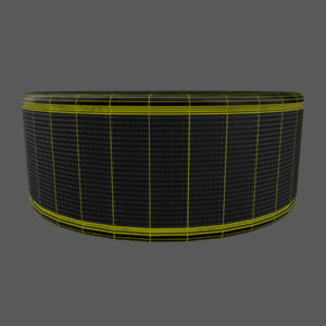 hockey-stick-puck-pbr-3d-model-physically-based-rendering-wireframe-4