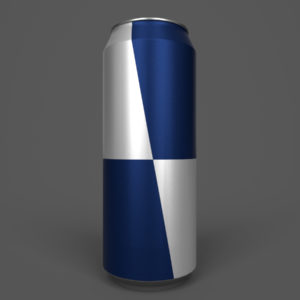 Energy Drink Can PBR 3D Model