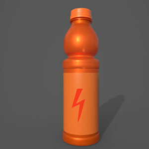 Energy Drink Bottle PBR 3D Model
