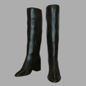 Tall Leather Boots PBR 3D Model